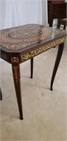 Beautiful French Inlaid Music Box Table