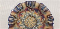 Fenton Cobalt Blue Carnival Glass Bowl