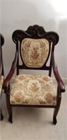 Pair of Vintage Mahogany Upholstered Chairs