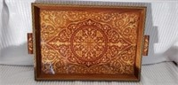 Awesome Vintage Inlaid Serving Tray