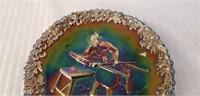 Fenton 1970 Purple Carnival Glass Plate