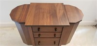 Vintage Sheraton Style Sewing Cabinet LOADED