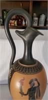 Large Stunning Terracota Italian Handpainted Urn