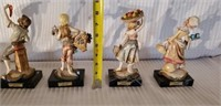 Lot of 5 Italian Alabaster Sculptures on Marble