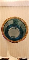 Indiana Glass Blue Carnival Dish with Lid