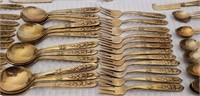 Huge 12 Place Setting Siam Bronze Flatware