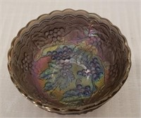 Imperial Glass Purple Carnival Bowl