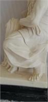 Italian Alabaster A. Santini Roman Statue