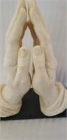 Beautiful italian alabaster praying hands statue