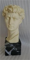 Italian Alabaster G. Ruggeri Head Bust Marble Base
