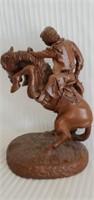 Red Mill Bronco Rider Statue by E. Biensdorfer