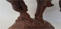 """Beautiful Red Mill """"the end of the trail"""" statue"""