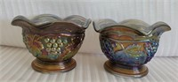 Beautiful Pair of Imperial Carnival Glass Bowls