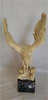 Beautiful marble base alabaster eagle sculpture