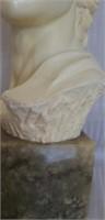 Beautiful marble base alabaster roman sculpture