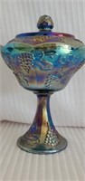 Beautiful Imperial Carnival Glass Candy Dish W Lid