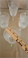 Vintage Lot of 12 Alana Waterford glasses