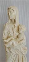 Italian Alabaster A. Santini Roman Woman & Child