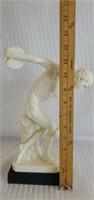 Italian Disc Thrower Nude Man Santini Sculpture
