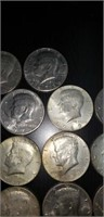 Lot of 57 various dates Kennedy half dollars