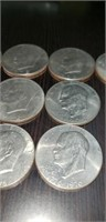 Lot of 10 collectable Eisenhower dollar coins