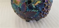 Beautiful footed carnival glass decorative item
