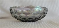 Large Blue Imperial Carnival Glass Bowl