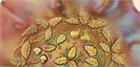 Beautiful carnival glass decorative bowl