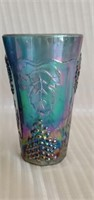 Blue Imperial Carnival Glass Grape Pattern Cups