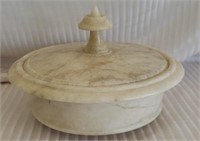 Italian Marble Covered Serving Bowl