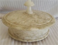 Italian Marble Console bowl with Lid