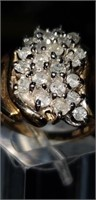 10K yellow Gold and Diamond Ring size 7
