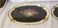 Lot of 2 Italian Wooden Serving Trays