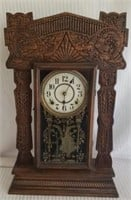 Antique Ingram Oak Mantle Clock