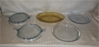 5 Piece lot Blue Fire King & Depression Glass