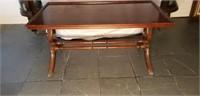 Antique Brandt Mahogany Harp Coffee Table