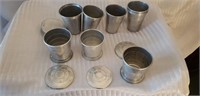 Lot of Vintage Aluminum Cups Collapsible