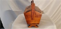 Nice Vintage Wooden  Travel Sewing Box