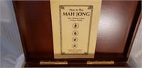 Unopened Mah Jong Chinese Game in Wood Case