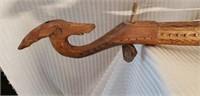 Vintage Wood Hand Carved Musical Instrument