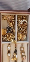 Jewelry Box With Estate Jewelry Mostly Costume