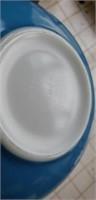 Large Blue Pyrex Vintage Snowflake Bowl