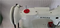 White Singer Featherweight Sewing Machine in Box