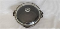Wagner Cast Iron Dutch Oven with Glass Lid