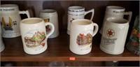 Misc. Shelf Estate lot German Steins & More