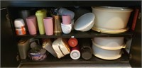 Estate Cabinet lot Household & Collectibles #1