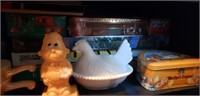 Estate Cabinet lot Household & Collectibles #4