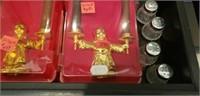 Estate Drawer Lot Brass Candleholders & More