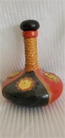 Italian Leather Covered Wine Decanter