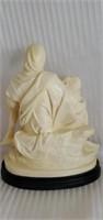 Vintage Italian Alabaster Pieta Statue by Santini